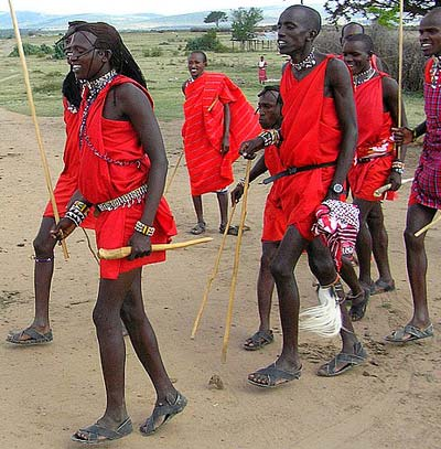 Shoes that the Masai tribe wear