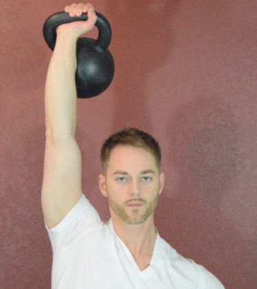 Kettlebell Military Press Front